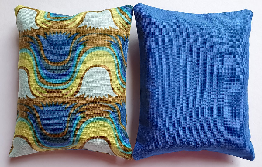 Lavender bag set - blue and brown abstract