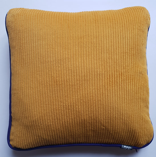 Cord and linen - mustard and purple