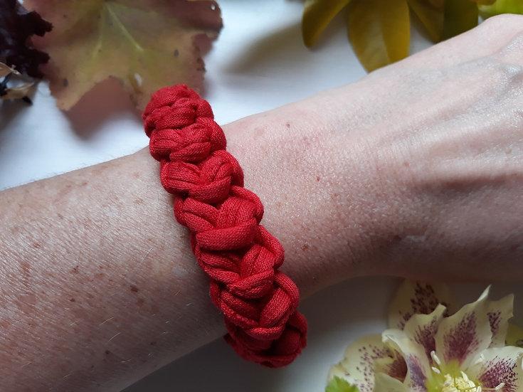 Crocheted bracelet -red