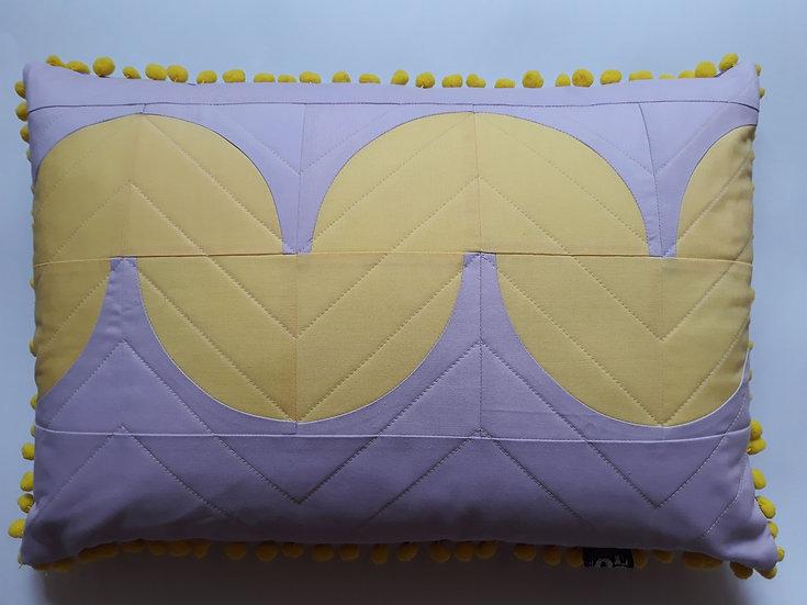 Quibble cushion - thistle & buttercup