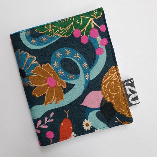 Needle book - blue snake