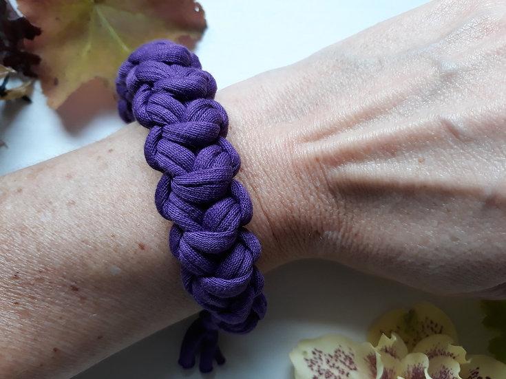 Crocheted bracelet - purple