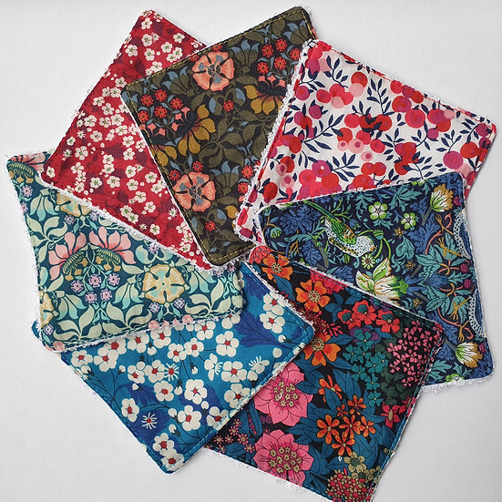 Deluxe reusable wipes- Liberty tana lawn mixed floral patterns