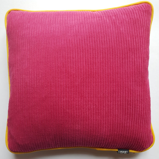 Cord and linen - cerise and yellow