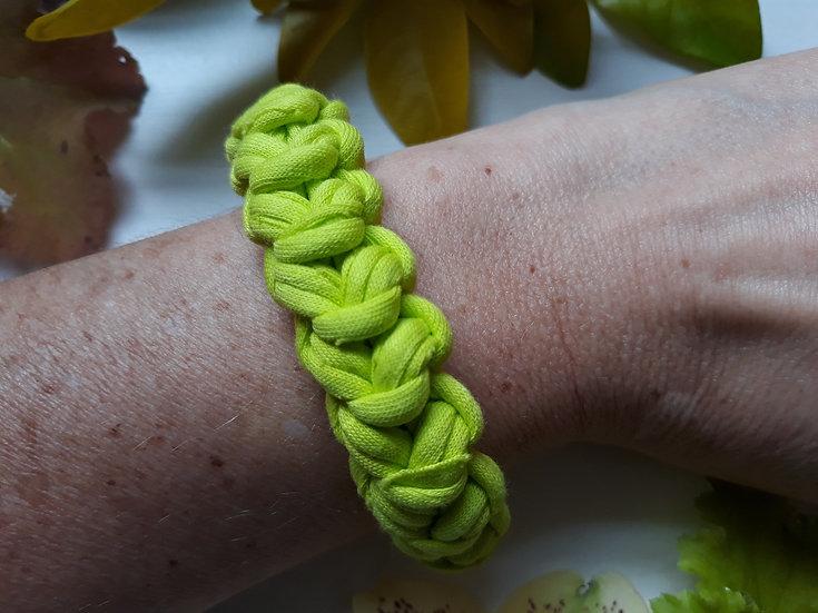 Crocheted bracelet - lime green
