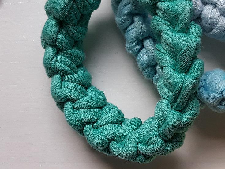 Crocheted bracelet - turquoise