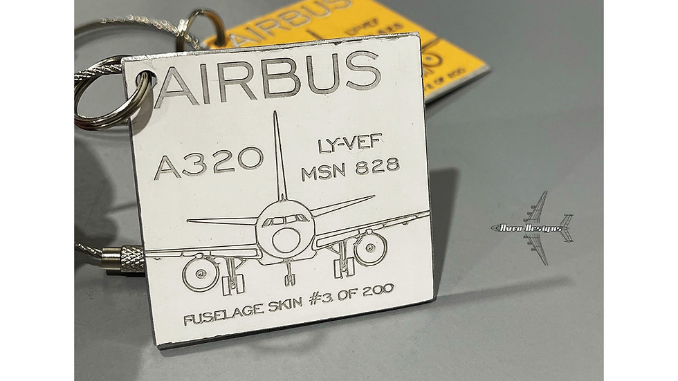 Thomas Cook Engraved A320 Fuselage Skin Keyring