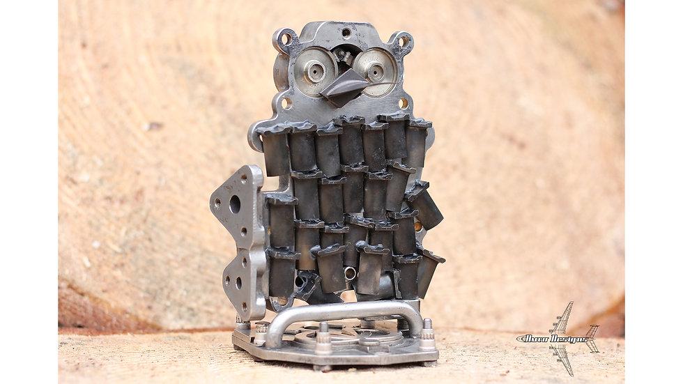RAF Tornado GR4 Engine Parts Owl Sculpture