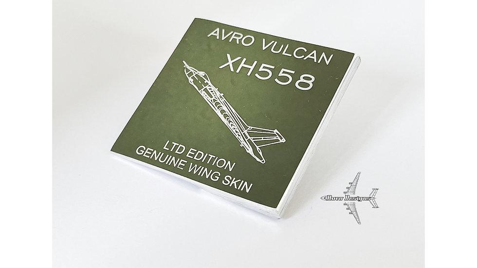 RAF Avro Vulcan XH558 Wing Skin Structure Cut
