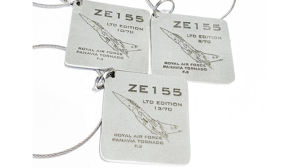 RAF Tornado F.3 ZE155 Skin Tag Keyrings