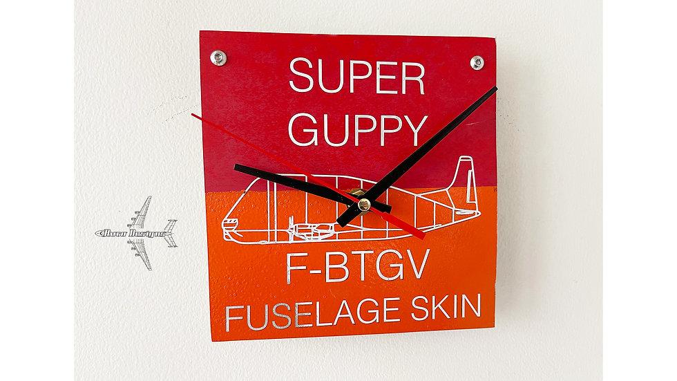 Super Guppy Fuselage Skin Wall Clock