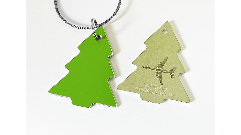 S7 A319 Christmas Tree Decoration Skin Tag