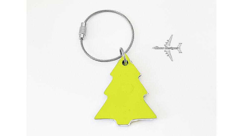 S7 TU-154 Christmas Tree Decoration Skin Tag