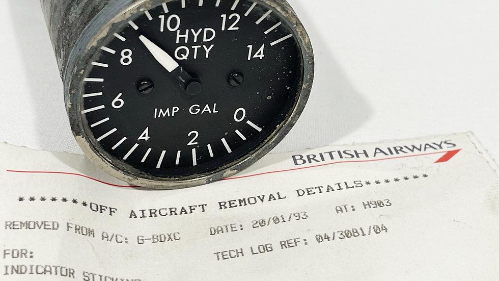 British Airways Boeing 747-200 G-BDXC Cockpit Gauge