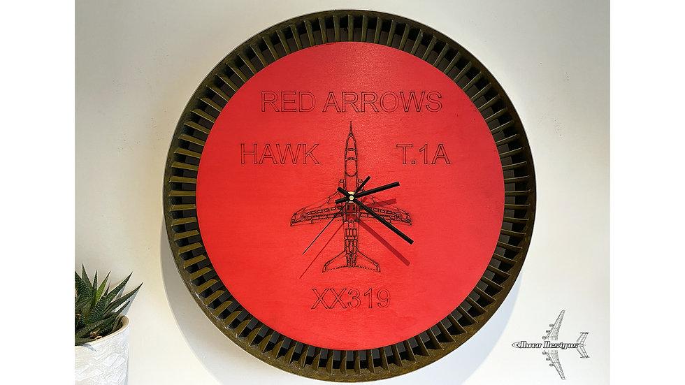 Red Arrows Hawk Jet Engine Wall Clock - XX319