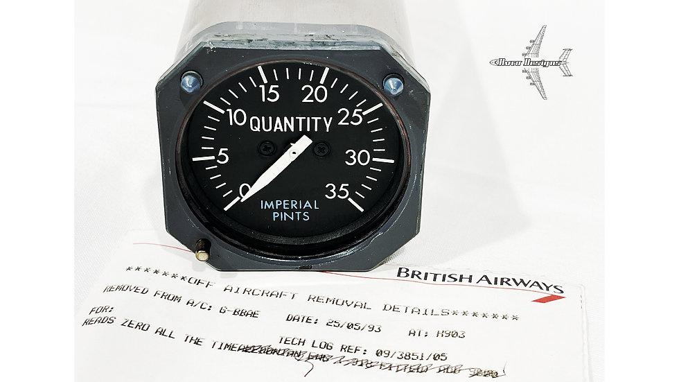 British Airways Tristar G-BBAE Cockpit Gauge