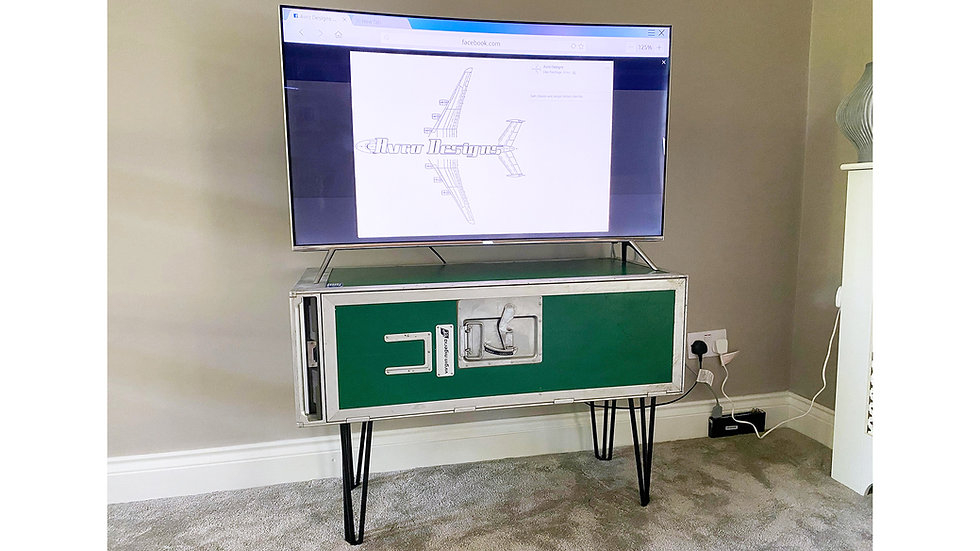 Airline Bar Cart TV Stand
