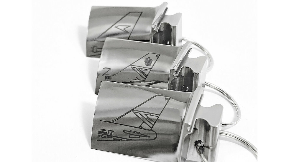 Boeing 747 Tail Rolls Royce Jet Engine Bag Tags