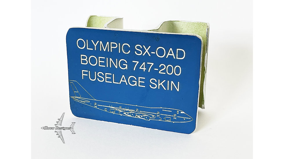 Boeing 747-200 Fuselage Skin Structure Cut Olympic SX-OAD