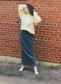 Sweater from Moving Mamas Vintage. Skirt from Boot & Trunk. Shoes from Old Salt Vintage.