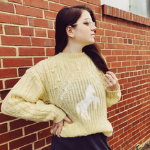 Sweater from Moving Mamas Vintage. Skirt from Boot & Trunk.