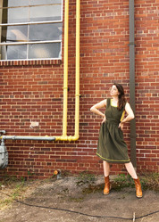 Dress from The Block Vintage. Tank from Trunkshow Apparel. Boots from Boot & Trunk.