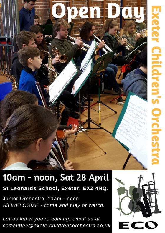 Open Day 28th April!!!