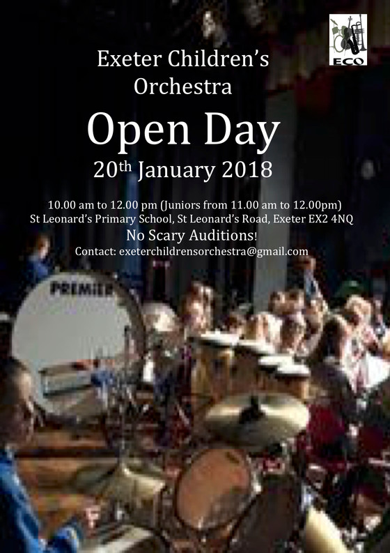 Don't Miss Our Open Day!! No Scary Auditions!