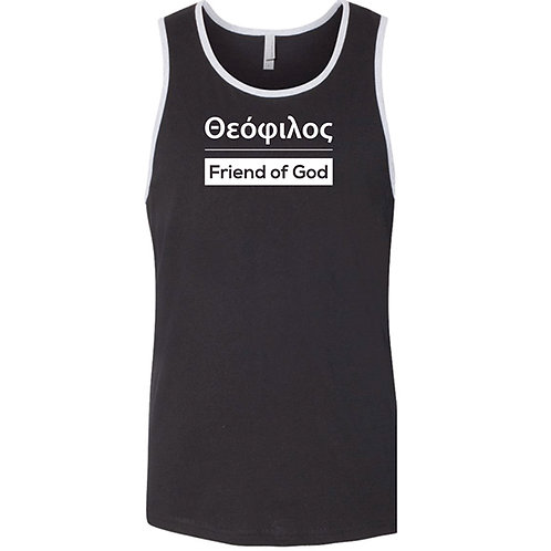 FRIEND OF GOD - Blk/gray Tank 3633