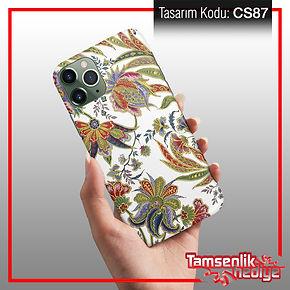çiçek desenli cep telefonu kapağı
