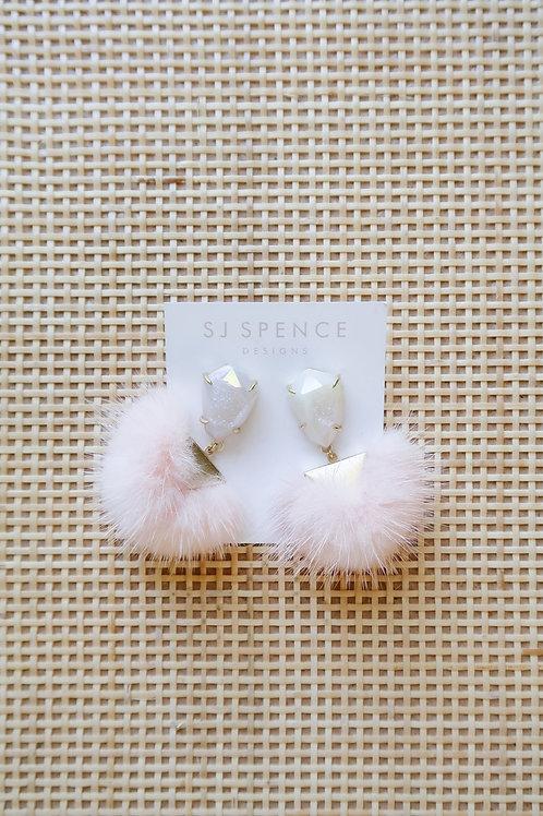 Pink Fur Poms