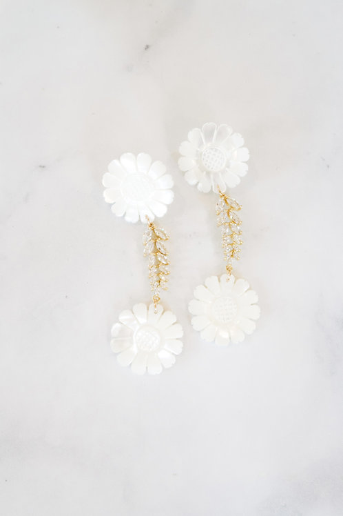 Mother of Pearl & Crystal Sunflowers