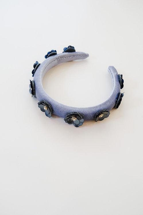 Blue & Navy Floral Embellished Headband