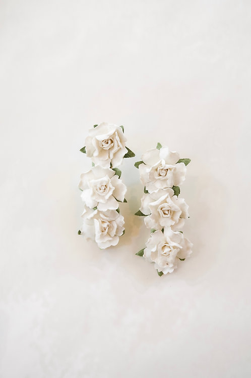 White Mache Flowers