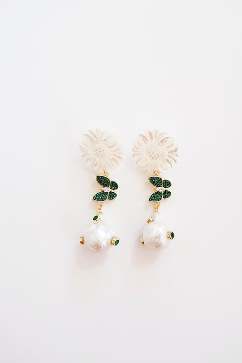 Emerald Pave Butterfly Drops