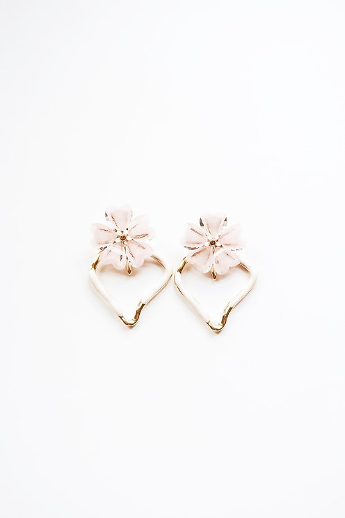 White and Pink Plumeria Hearts