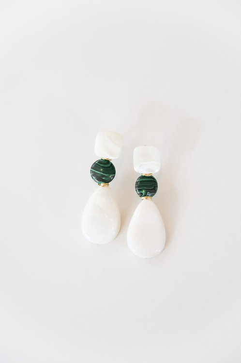 Mother of Pearl & Green Drops