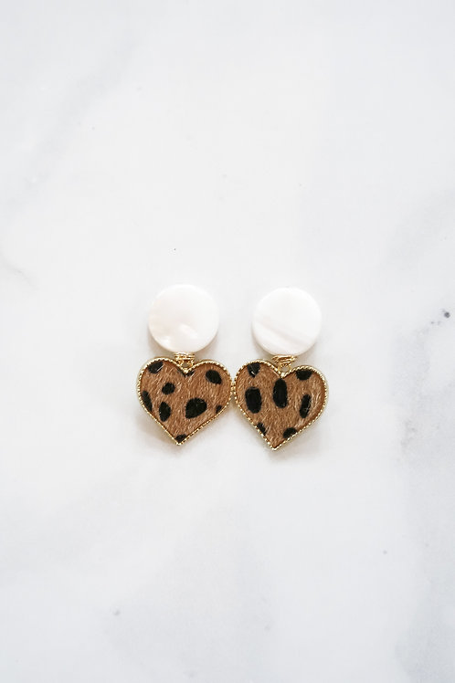 Leopard & Mother of Pearl Hearts