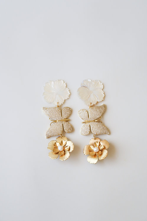 Pave Butterfly Flowers