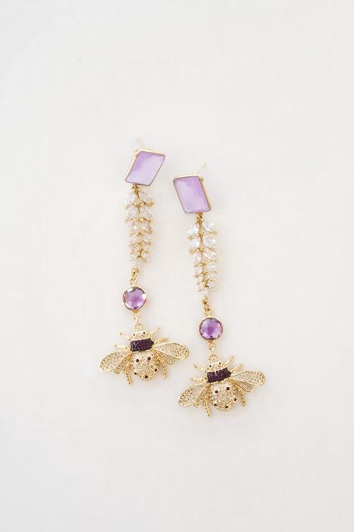 Purple Chalcedony & Bee Drops