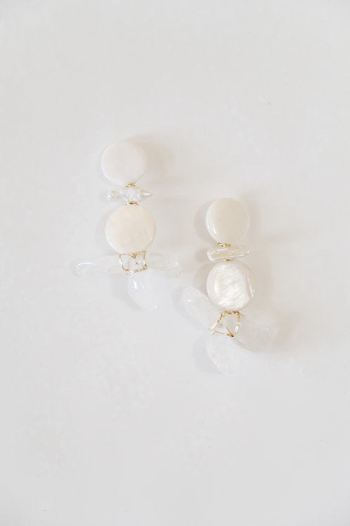 Mother of Pearl & White Quartz