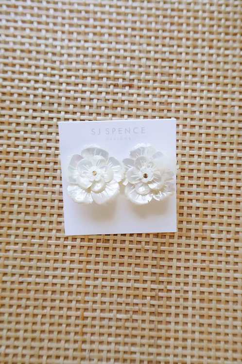 Mother of Pearl & Brass Center Studs