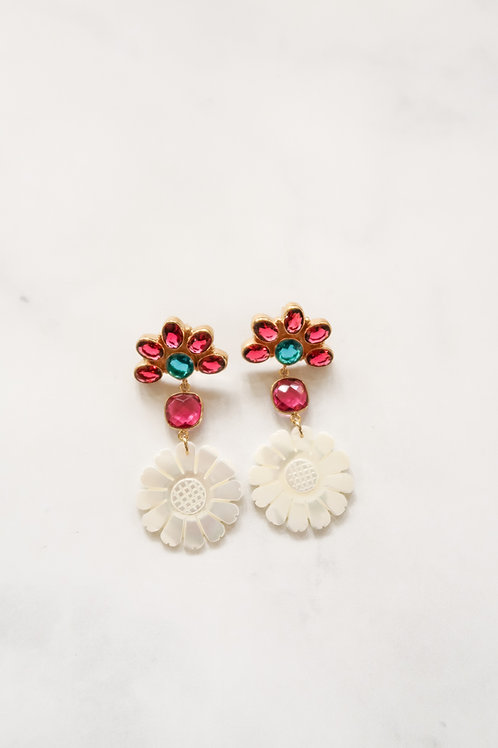 Pink Gem & Mother of Pearl Sunflowers
