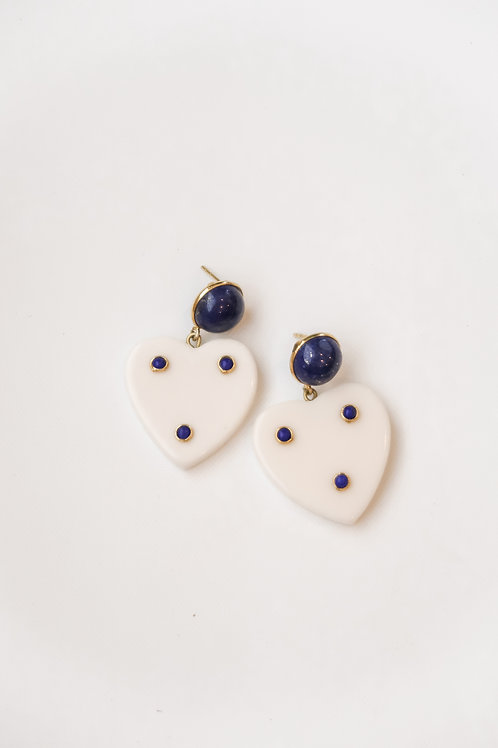 Lapis & Resin Heart