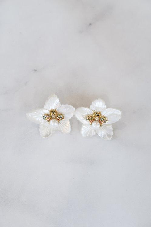 Mother of Pearl & Embellished Bug Petals