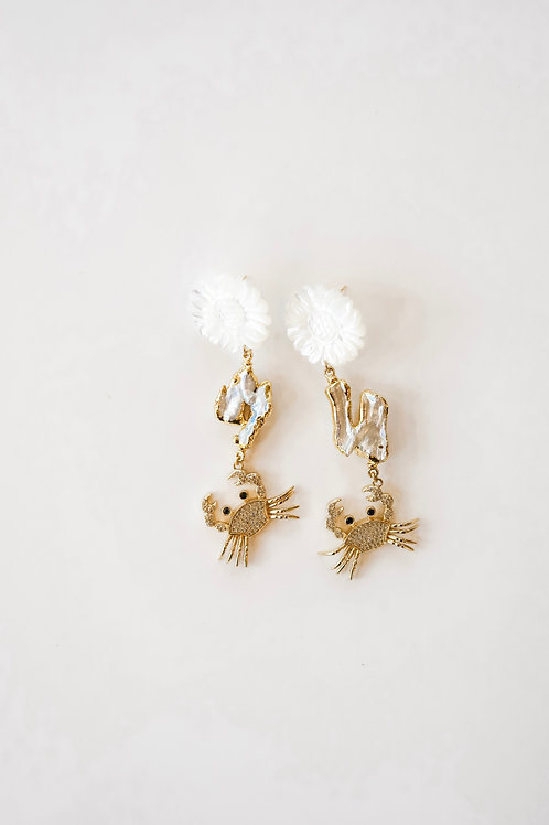 Mother of Pearl & Pave Crabs