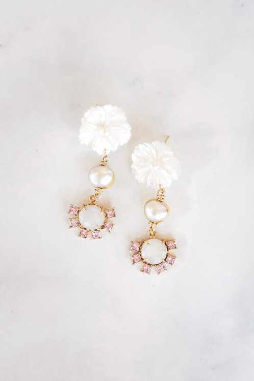 Mother of Pearl & Pink Moonstone