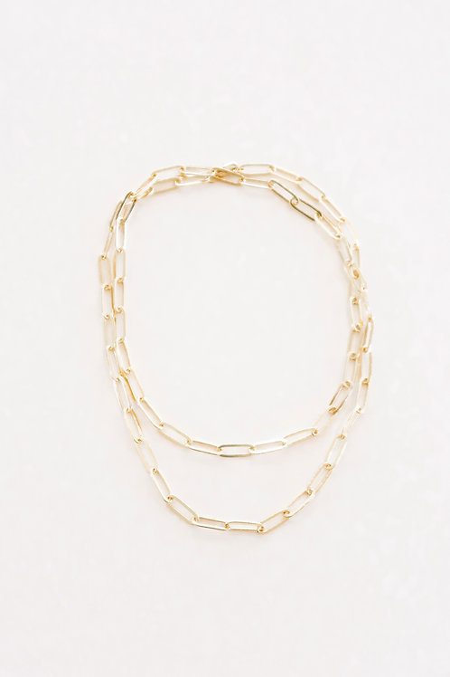 Signature Collection: Gold Reine Double Wrap Necklace
