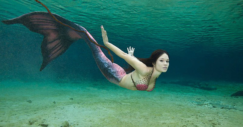 Mermaid with large fecal trail