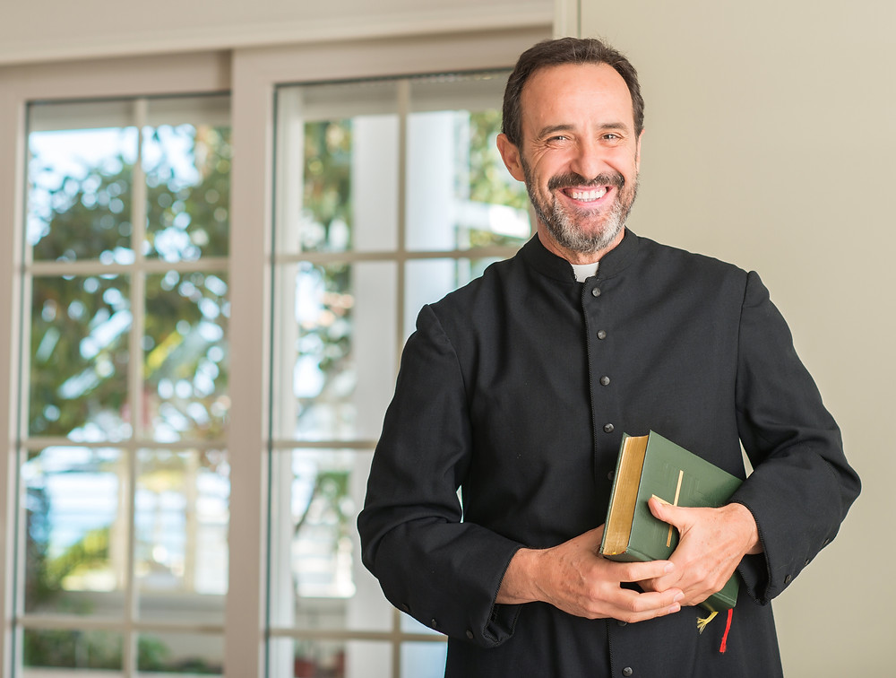 The priest is beleived to be a huge fan of Mr. Tesler and got through seminary using the the technique.